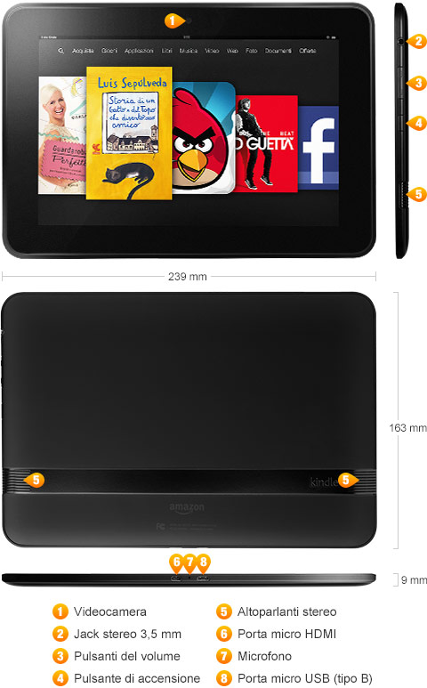 Kindle Fire HDX 8.9 retro