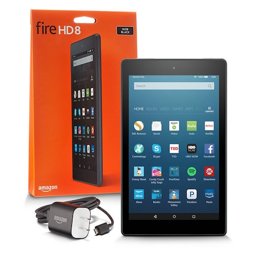 fire hd 8 scatola